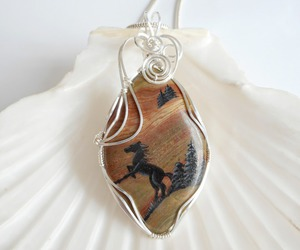 handmade, horse, and pendant image