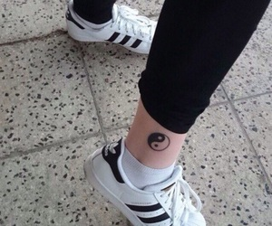 adidas, grunge, and tattoo image