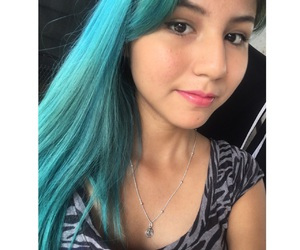 random, tumblr, and aqua hair image