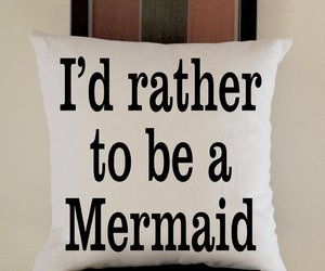 mermaid, pillow, and pillow case image