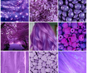 aesthetic, Collage, and lilac image