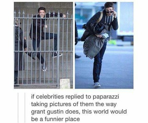 funny, grant gustin, and boy image