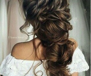 hair style and wedding image