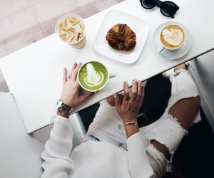 coffee, fashion, and white image