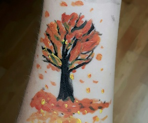 autumm, fall, and bodypaint image