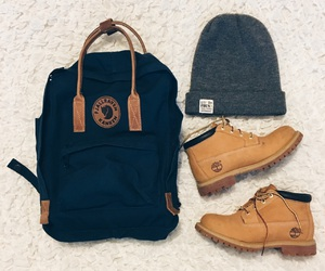 backpack, beige, and girl image