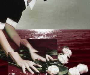 art, bloody, and Collage image
