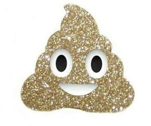 emoji, glitter, and poop image