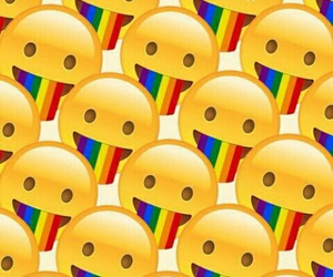 emoji, arcoiris, and background image