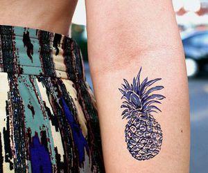 tattoo, rabbit, and pineapple image