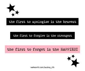 apologize, be, and forget image
