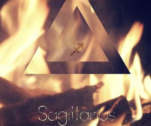 fire, Sagittarius, and wallpaper image