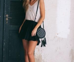 back, black, and skirt image