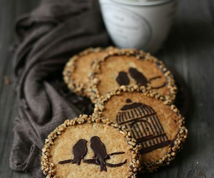 Cookies, bird, and chocolate image
