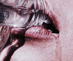 water, lips, and aesthetic image