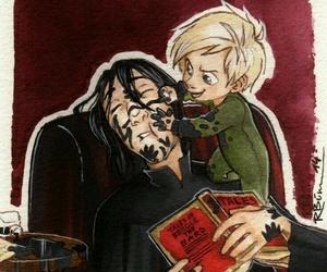 harry potter, draco malfoy, and severus snape image
