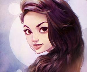 art, bella, and drawing image