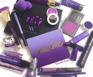 makeup, purple, and cosmetics image