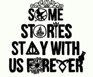 harry potter, stories, and hunger games image