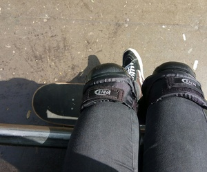 black, skate, and skatepark image