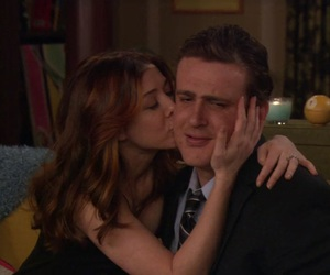 couple, himym, and kiss image