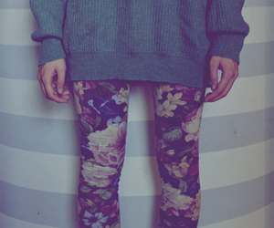flowers, sweater, and hipster image