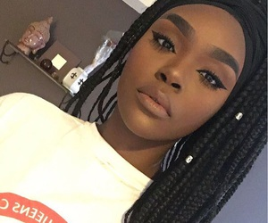 eyebrows, melanin, and hairstyle image