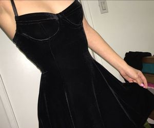 black, dress, and tumblr image