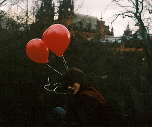 balloons, boy, and vintage image