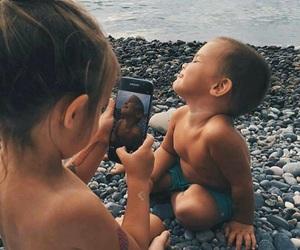 baby, kids, and beach image