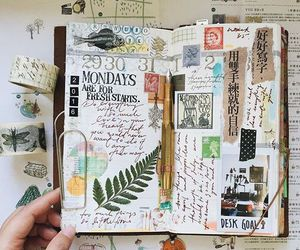 creative, journal, and stamps image