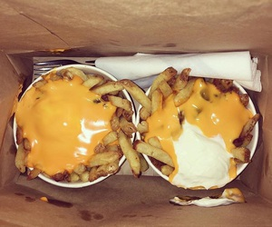 cheese, fries, and food image