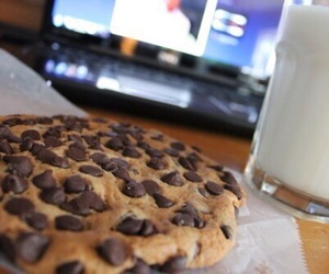 milk, food, and cookie image