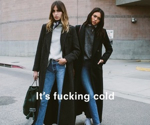 fashion, girl, and cold image