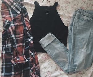 clothes, cool, and flannel image