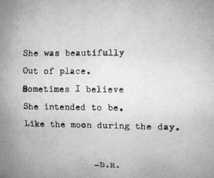 beautiful, moon, and quote image
