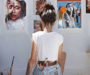 art, artist, and colourful image