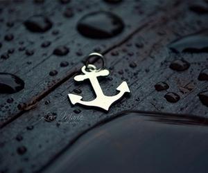 anchor, rain, and water image