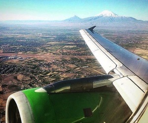 airplane, ararat, and armenia image