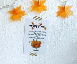 autumn, decor, and desk image