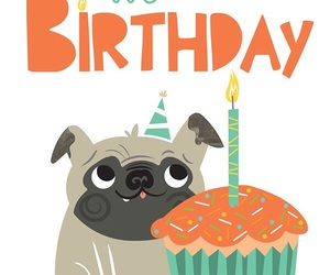 birthday, card, and dog image