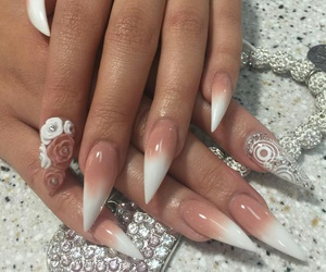 nails, stiletto, and nailart image