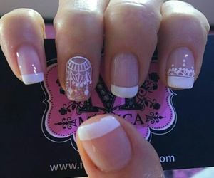 mandala, nails, and white image
