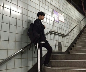 asian, train, and boy image