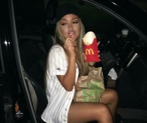 girl, food, and McDonalds image