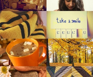 autumn, cozy, and yellow image