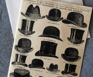 graphic, hats, and illustration image