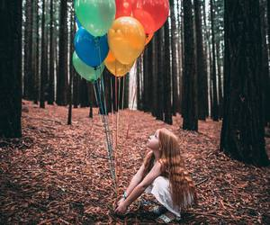 colors, girl, and photograph image