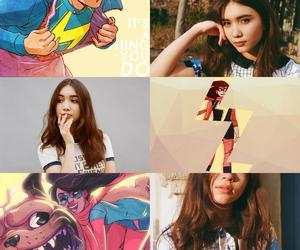 aesthetic, miss marvel, and marvel comics image