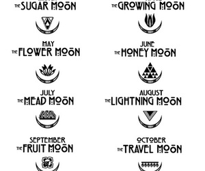 moon, tattoo, and month image